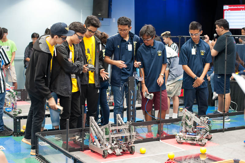Robotics teams from around the state came to compete at IPA.