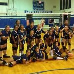The Island Pacific Academy Intermediate Girls volleyball team after their exciting victory over Hawai'i Mission Academy.