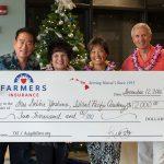 Gerald Teramae, Maria Carvalho, Debbie Yoshino, and Bill Doherty with the award check.