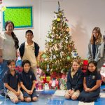 Representatives from the Onemalu Transition Shelter thanked the Grade 5 Student Action Committee for their work on the Giving Tree project.