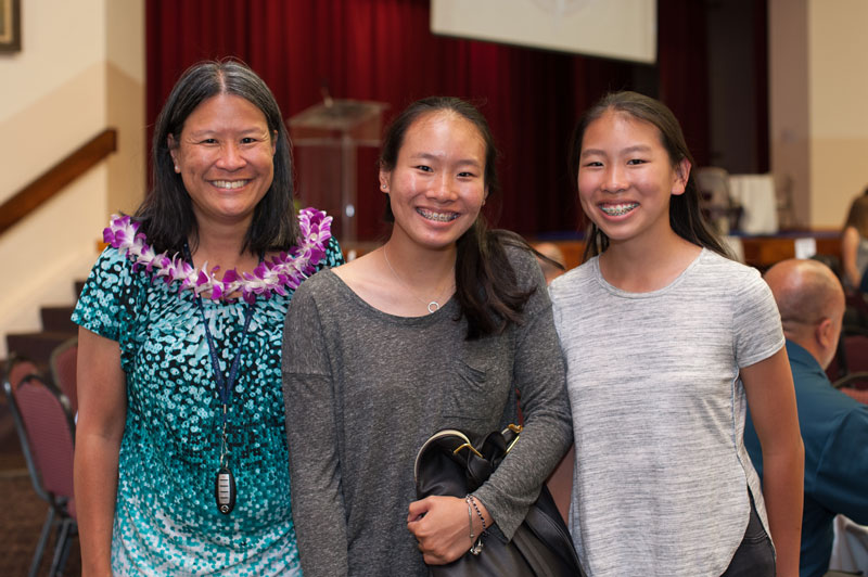 Brandi Chun ('18) and her family.