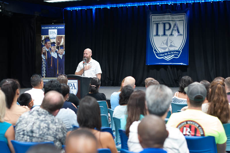 Mr. Steven Caley, Secondary Principal, shares with the new parents why he is passionate about IPA.