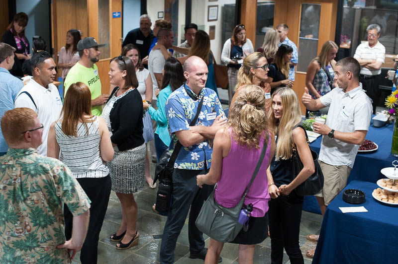 New IPA parents get a chance to meet each other at the New Parent reception.