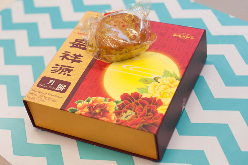 Box of moon cakes.
