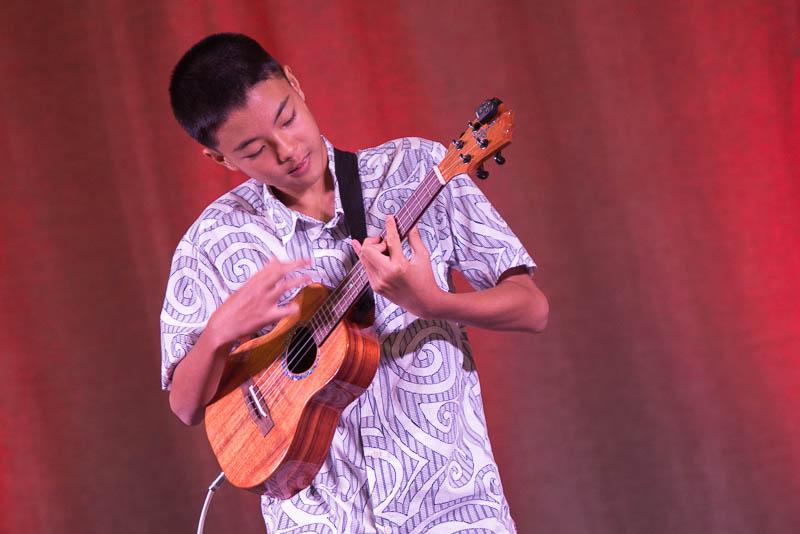 Brennan Lee on ukulele.
