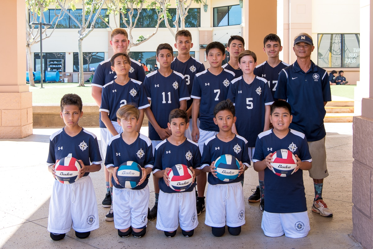 Boys' intermediate volleyball team photo
