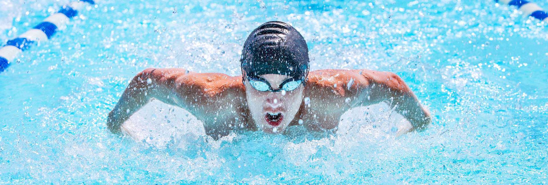 Swimmer doing butterfly