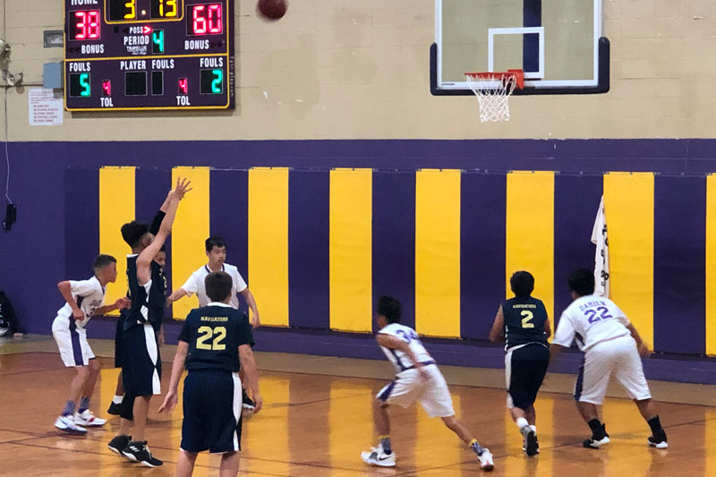 Boys' intermediate basketball game