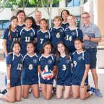 Team photo of girls' varsity volleyball team