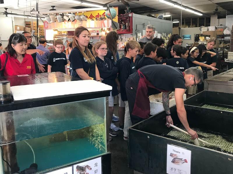 Grade 5 students visit O'ahu Market
