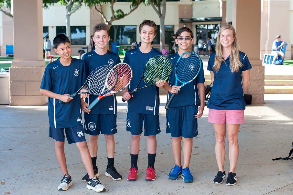 Boys' intermediate tennis team photo