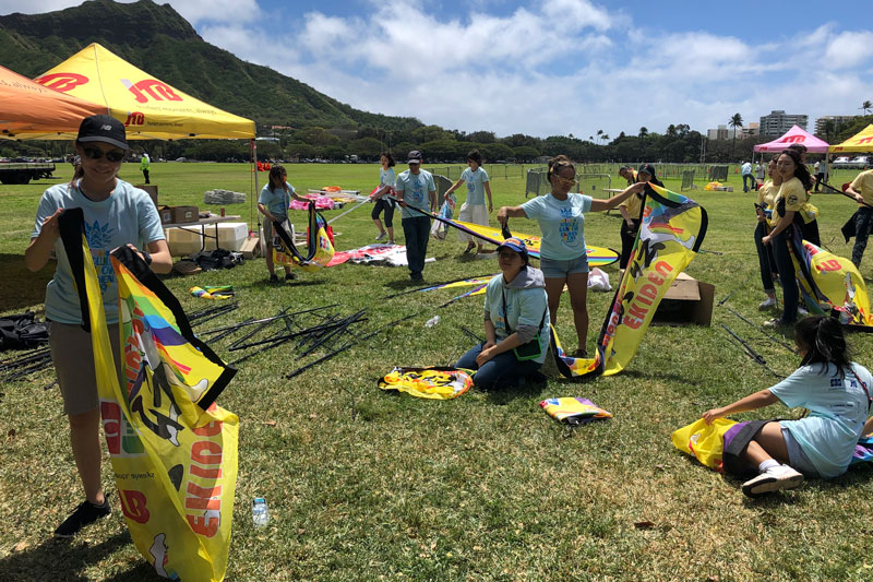 JNHS students volunteer at the Honolulu Festival