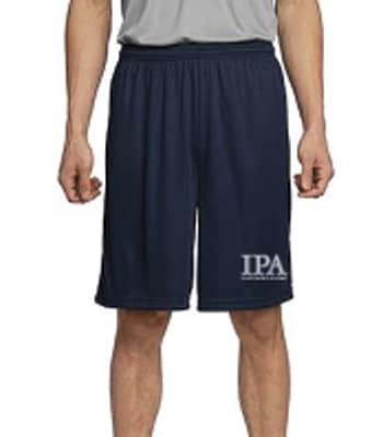 Man modeling PE shorts