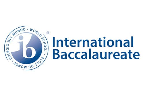 Logo for International Baccaulaureate program on a white background