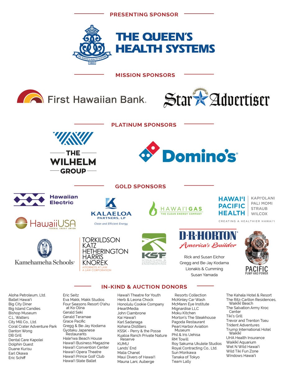 List of event sponsors and donors