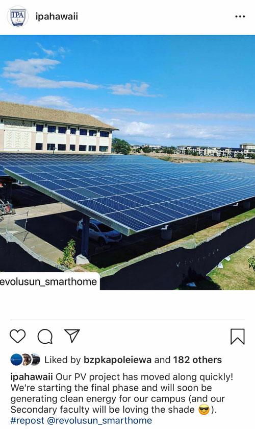 Screen shot of Instagram post