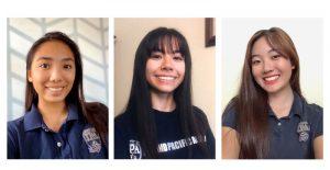 The Quarantine Art Club founders – Mina, Lina, MikaThe Quarantine Art Club founders – Mina, Lina, Mika