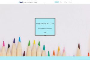 Screen shot of the Quarantine Art Club website.