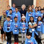 Grade 5 students at Colonial Williamsburg.