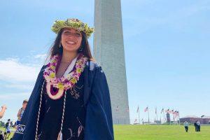 Kate Uesugi '15 at Washington Monument