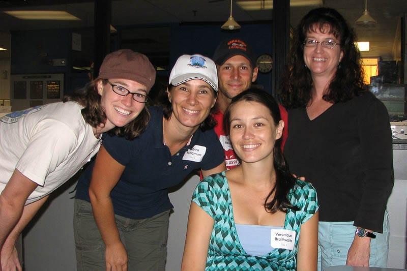 Sabine Yamamura with IPA faculty members.