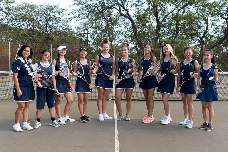 Girls' tennis team.