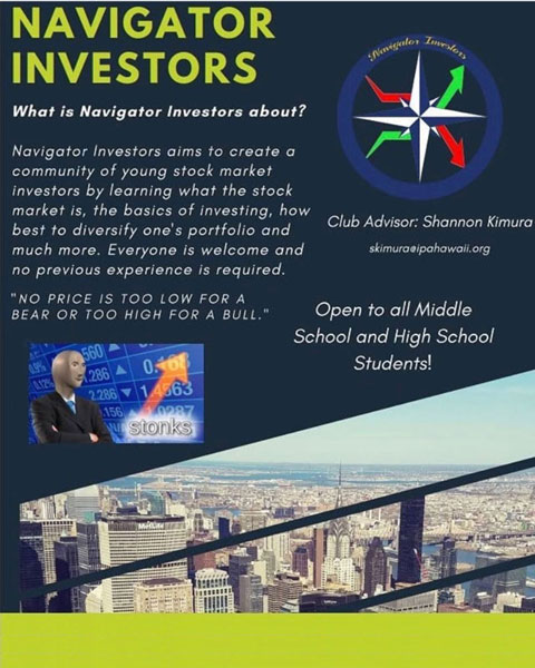 Navigators Investors Club flyer for virtual Club Fest