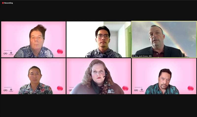 Panelists on Zoom