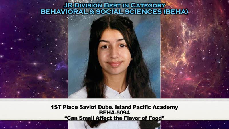 Screenshot of science fair winner.