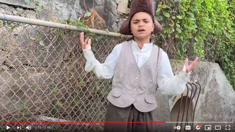 Screenshot of student video