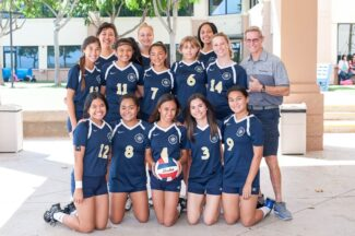 Team photo of girls' varsity volleyball team