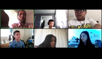 MathCounts team competing on Zoom